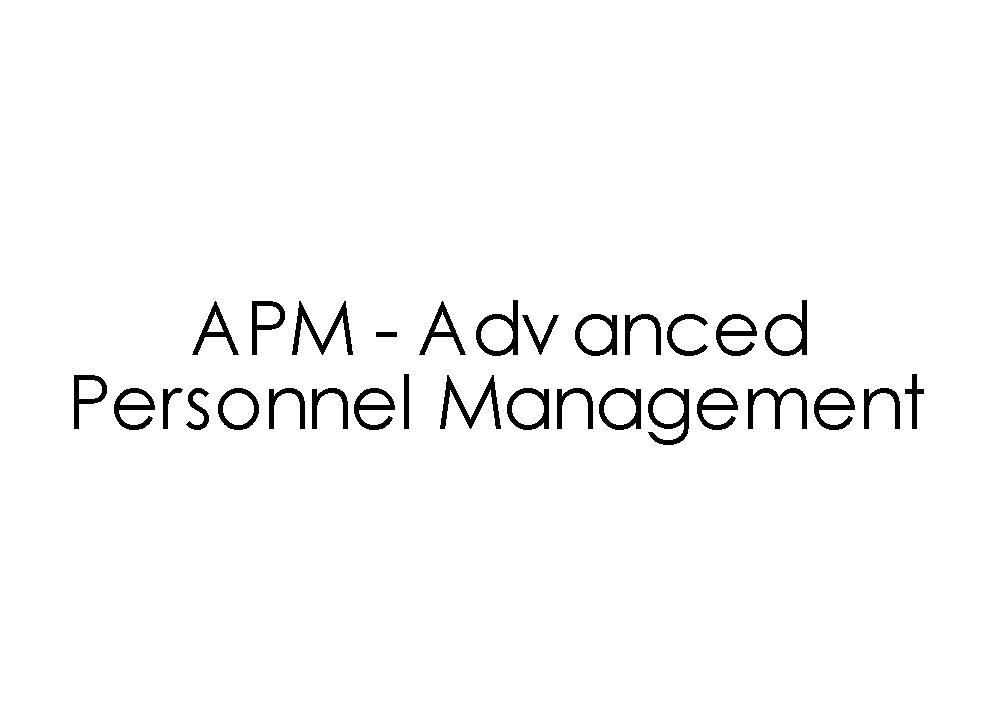 APM - Advanced Personnel Management