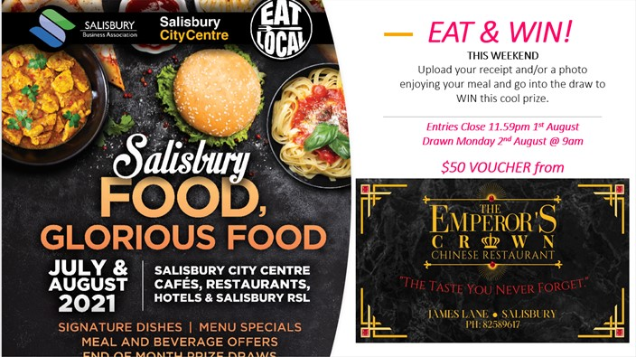 EAT & WIN THIS WEEKEND 30th July - 1st Aug