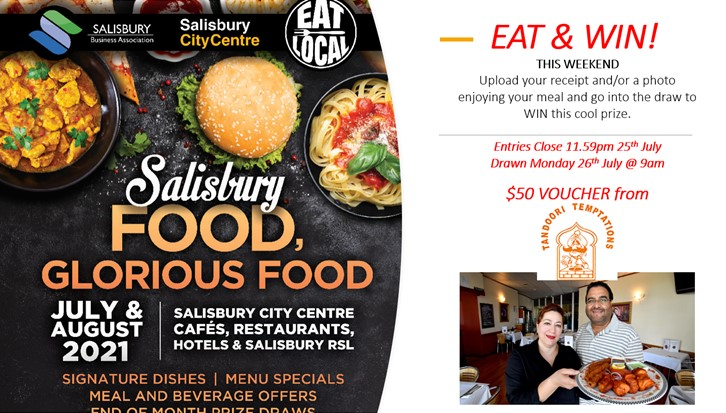 EAT and WIN THIS WEEKEND! 23-25 JULY
