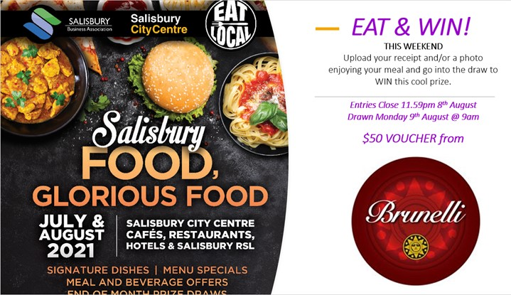 EAT & WIN this weekend 6th - 8th August