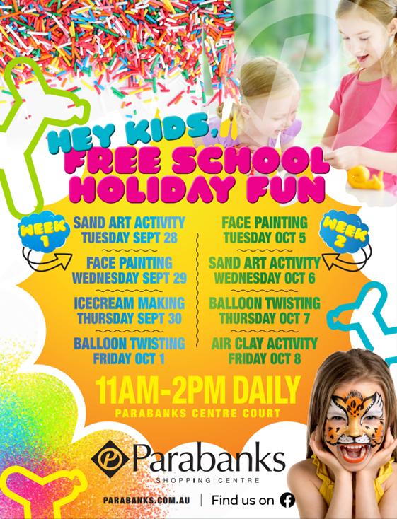 School Holidays @ Parabanks